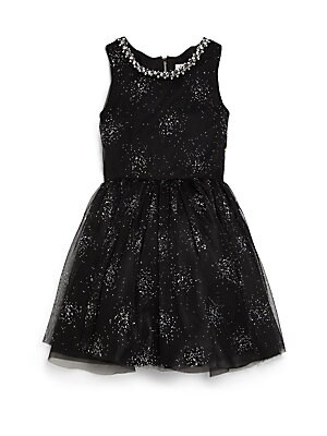 Girl's Sparkle Mesh Party Dress