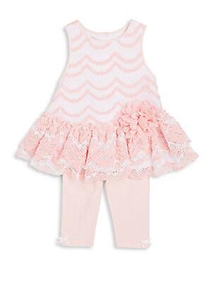Baby's Two-Piece Ruffle Top & Capri Pants Set