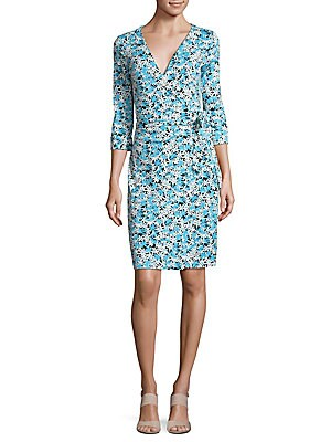 New Julian Floral-Print Cotton & Silk Jersey Wrap Dress