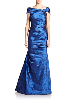Taffeta Off-Shoulder Gown