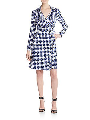 New Jeanne Geo-Print Wrap Dress