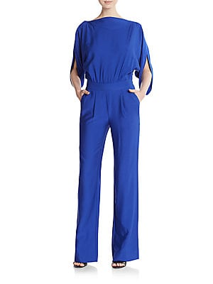 Dezi Stretch Silk Jersey Jumpsuit