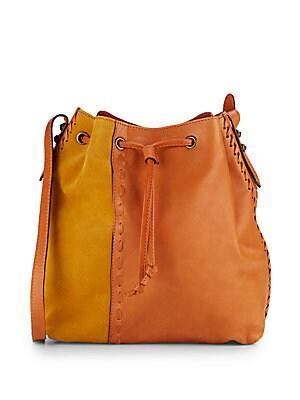Thalia Leather & Suede Bucket Bag