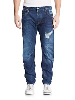 Arc 3D Distressed Slim-Straight Jeans