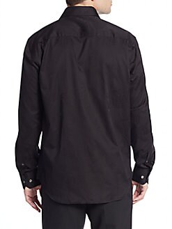 Classic-Fit Tonal Patterned Sportshirt