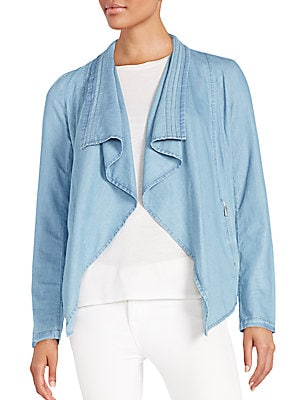 Draped Chambray Jacket