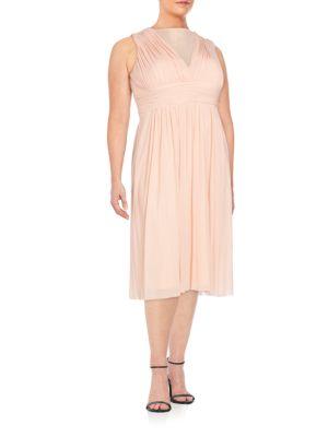 Sleeveless Illusion Dress Marina, Plus Size