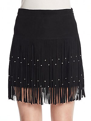 Flight Fringe Suede Skirt