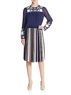 Madeline Striped Skirt