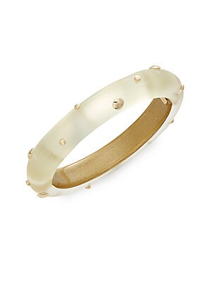 Lucite Studded Bangle Bracelet