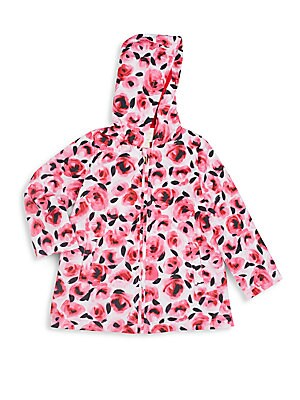 Toddler's & Little Girl's Rose-Print Jacket