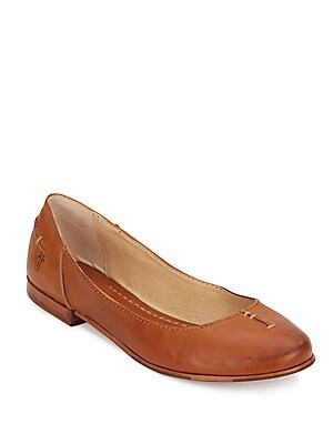 Callie Leather Ballet Flats