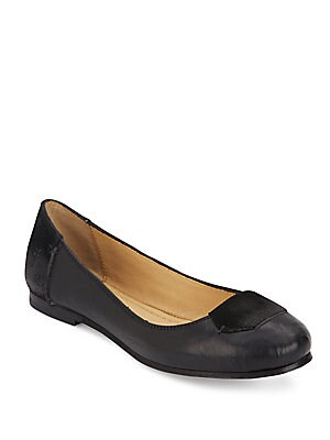 Carson Leather & Suede Ballet Flats