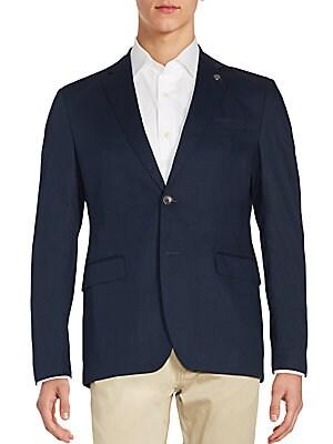 michael kors male long sleeve solid jacket