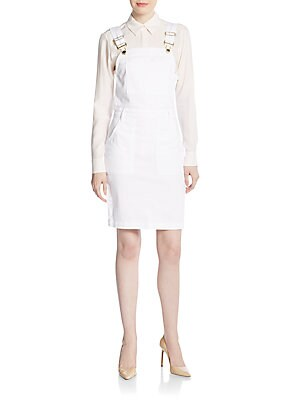 Three-Pocket Overall Denim Dress
