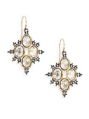 Elements Spiked Crystal Drop Earrings