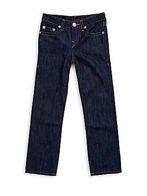 Boy's Straight-Leg Solid Jeans