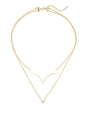 Layered Curved V Necklace