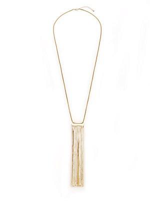 Corinne Chain Tassel Necklace