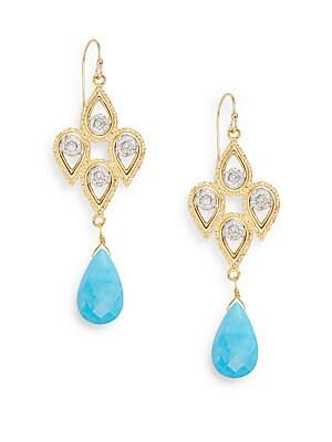 Elements Arizona Turquoise & Swarovski Crystal Chandelier Earrings