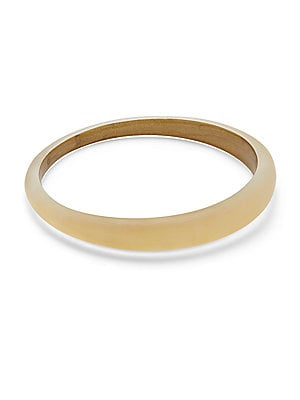 Lucite 10K Gold-Plated Skinny Tapered Bangle