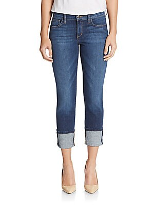 Cuffed Cropped Skinny Jeans
