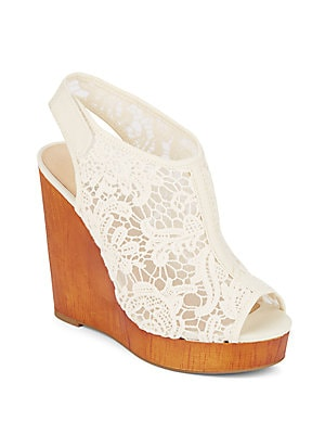 Rezdah 2 Lace Wedge Sandals