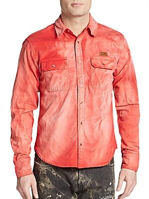 Chameleon Tie-Dye Cotton Sportshirt