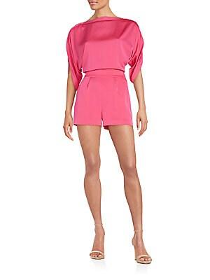 Soleil Open-Back Short Jumpsuit