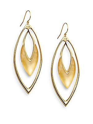 Lucite Marquis Orbital Drop Earrings