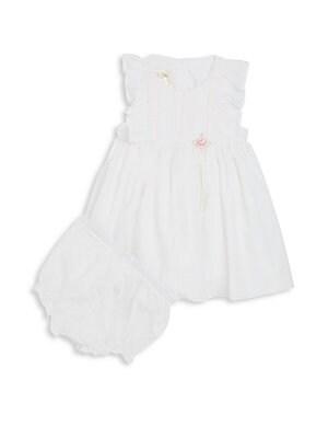 Baby's Swiss Dot Dress & Bloomers Set