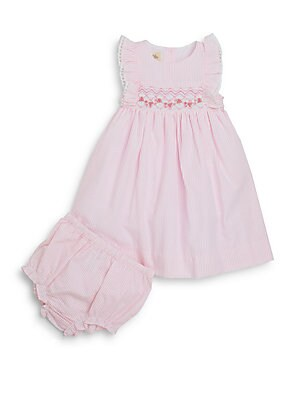 Baby's Striped Dress & Bloomers Set