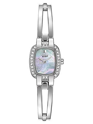 Women's Eco Drive Stainless Steel Bangle Watch