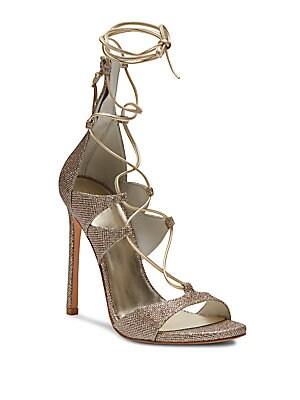 Legwrap Suede Lace-Up Sandals