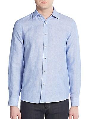Regular-Fit Linen Sportshirt