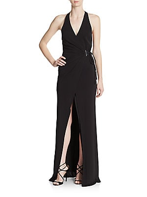 abs female jersey wrap gown