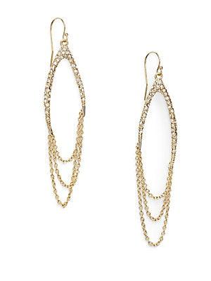 Miss Havisham Jagged Crystal Draped Chain Drop Earrings