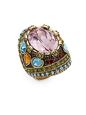 Shirli Stunning Multicolored Rhinestones & Swarovski Crystal Dome Ring