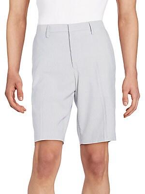 Faux Bois-Print Shorts