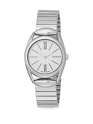 gucci female horsebit stainless steel watch