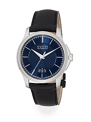 gucci gtimeless stainless steel leather band watch