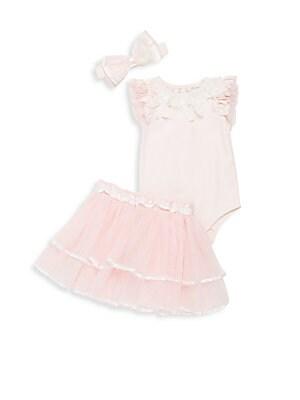 Baby's Three-Piece Bodysuit, Skirt & Headband Set