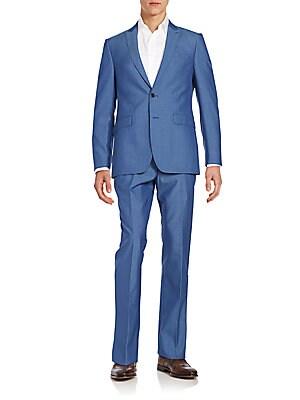 Regular-Fit Wool & Mohair Blend Suit