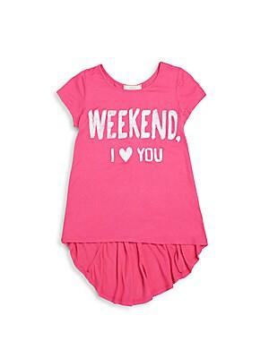 Girl's Weekend Hi-Lo Graphic Tee