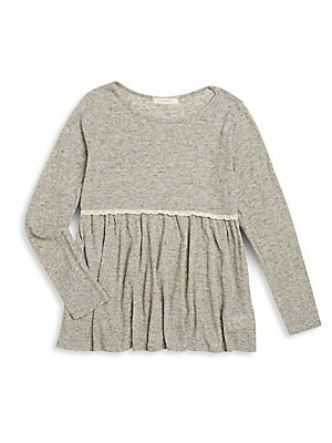 Girl's Skirted Rib Knit Tunic