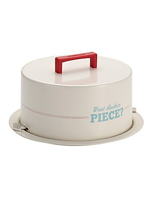 Want Another Piece Metal Cake Carrier