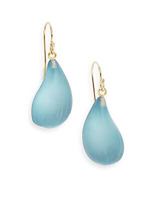 Lucite Dew Drop Earrings