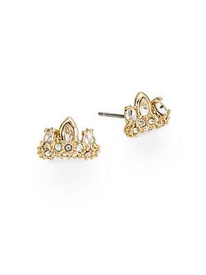 Miss Havisham Jagged Marquis Crystal Cluster Stud Earrings