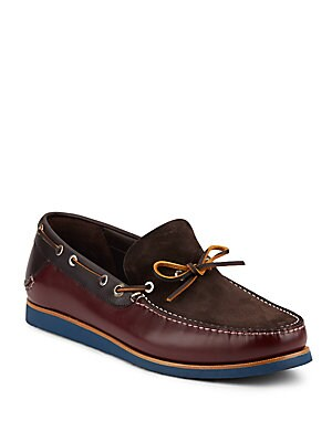 Manila Leather & Suede Boat Shoes