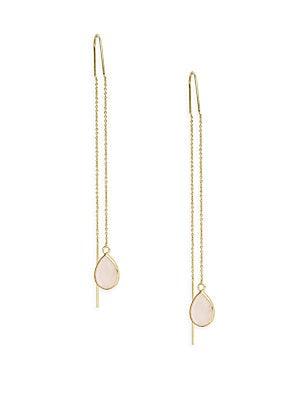 Stone Pull-Through Earrings